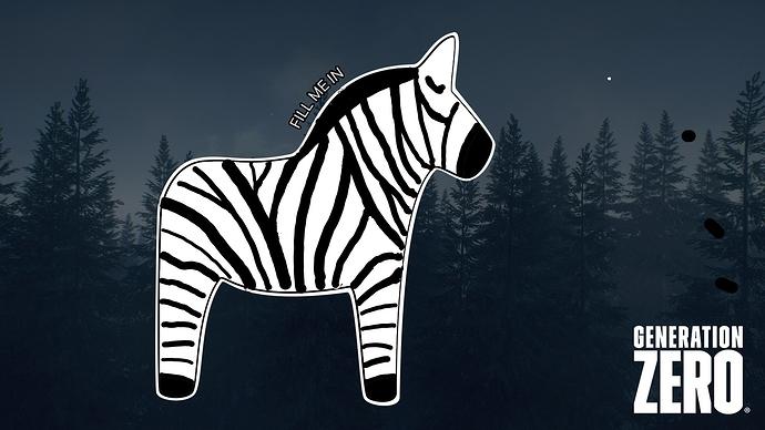Dalahorse_Zebra