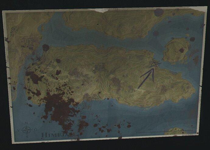 16  Map of Himfjäll found in shop on the Österhallan Marine center pier to start DLC side mission Stalemate