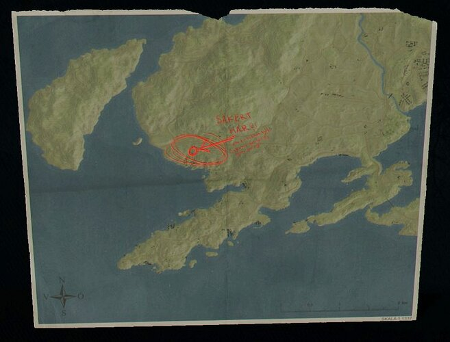 1b map shows Angerås Church