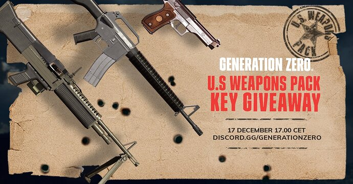 U.S Weapons pack giveaway image